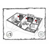 Комплект децентралізованої вентиляції для двокімнатної квартири старого фонду тип 1