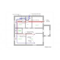 Централізована вентиляція з рекуперацією для будинку, площею 100 м.кв.  ( одноповерховий )