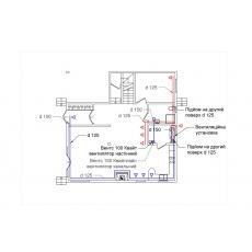 Централізована вентиляція з підігрівом для будинку площею 246 м.кв  ( двоповерховий )