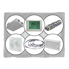 Комплект централізованої вентиляції для двокімнатної квартири (Львів, вул. Демянська) тип1