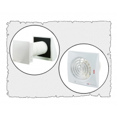 Комплект децентралізованої вентиляції  будинку  ( двоповерховий, тип 3 )