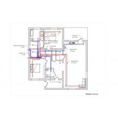 Централізована вентиляція для будинку площею 120 м.кв системою напівжорстких повітропроводів Вентс ФлексіВент ( одноповерховий )