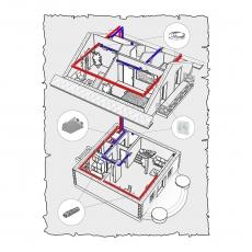 Централізована вентиляція будинку по проекту z1