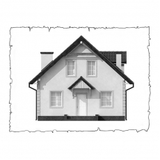 Повітряне опалення будинку по проекту z1