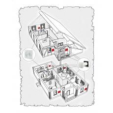 Комплект децентралізованої вентиляції  для  будинку ( двоповерховий, тип 6 )