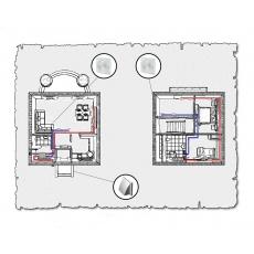 Комплект централізованої вентиляції для індивідуального будинку тип 1.