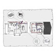 Комплект централізованої вентиляції для індивідуального будинку тип 2.