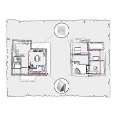 Комплект централізованої вентиляції для індивідуального будинку тип 3.