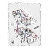 Комплект централізованої вентиляції для індивідуального будинку тип 6.
