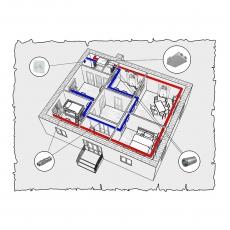 Централізована вентиляція будинку площею 88 м.кв  ( одноповерховий )
