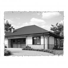 Природна вентиляція будинку по проекту z10 від сонячної батареї