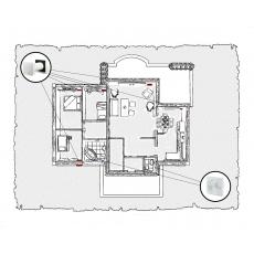 Природна вентиляція для  будинку (одноповерховий, тип 1)