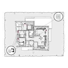 Природна вентиляція для  будинку (одноповерховий, тип 2)