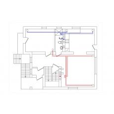 Централізована вентиляція з підігрівом для будинку площею 261 м.кв  ( двоповерховий )