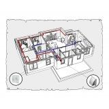 Комплект централізованої вентиляції для одноповерхового будинку, тип 1.