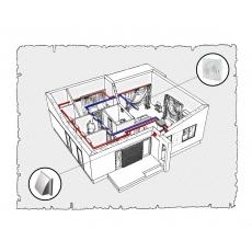 Комплект централізованої вентиляції для одноповерхового будинку, тип 2.