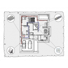 Комплект централізованої вентиляції для одноповерхового будинку, тип 3.
