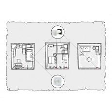 Природна вентиляція для  будинку ( триповерховий, тип 1 )