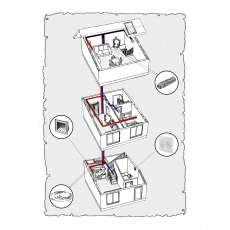 Комплект централізованої вентиляції для триповерхового будинку, тип 1.