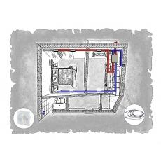 Комплект централізованої вентиляції для однокімнатної квартири  вул. Врубеля, 15 (м. Львів)