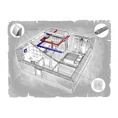 Комплект централізованої вентиляції для однокімнатної квартири ЖК Добра Оселя (м. Львів)