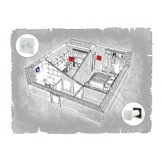 Комплект децентралізованої вентиляції для однокімнатної квартири ЖК Добра Оселя (м. Львів)