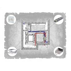 Централізована вентиляція  квартири на вул. Кругла - Під Голоском  м. Львів ( однокімнатна )