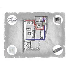 Комплект централізованої вентиляції для однокімнатної квартири вул. Лемківська, 9 (м. Львів)