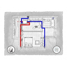 Комплект централізованої вентиляції для однокімнатної квартири за адресою Львів, Червоної Калини (Сихів)