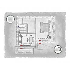 Комплект децентралізованої вентиляції для однокімнатної квартири (Львів, вул. Рубчака)