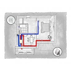 Комплект централізованої вентиляції для однокімнатної квартири (Львів, вул. Рубчака)