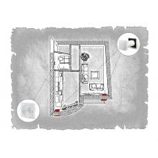 Комплект децентралізованої вентиляції для однокімнатної квартири вул. Перфецького,11а (м. Львів)