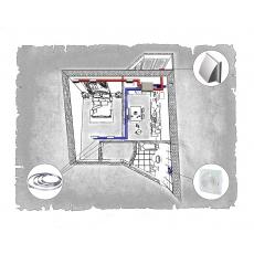 Комплект централізованої вентиляції для однокімнатної квартири  (м. Полтава  вул. Панянка )