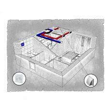 Комплект централізованої вентиляції для однокімнатної квартири  (м. Івано-Франківськ, вул. Стуса )
