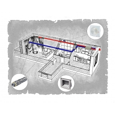 Централізована вентиляція  квартири ЖК Світанковий  м. Івано-Франківськ ( однокімнатна )