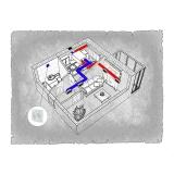 Централізована вентиляція  квартири ЖК Аристократ  м. Київ - Ірпінь  ( однокімнатна )