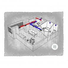 Централізована вентиляція  квартири  ЖК Естетика м. Хмельницький ( однокімнатна )