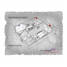 Децентралізована вентиляція  квартири ЖК LOFT 47 Perfect, м. Львів  ( однокімнатна )