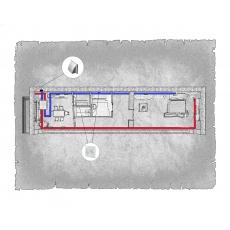 Централізована вентиляція  квартири ЖК Озерний край, м. Ужгород ( однокімнатна )