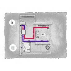 Централізована вентиляція  квартири ЖК Резиденція, м. Вінниця ( однокімнатна )