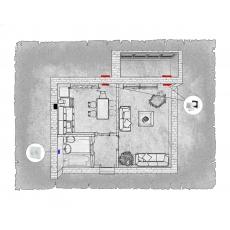 Децентралізована вентиляція  квартири ЖК Ріо м. Рівне  ( однокімнатна )