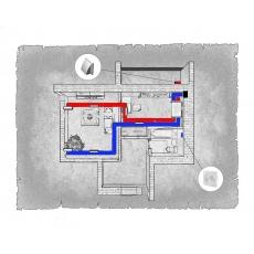 Централізована вентиляція  квартири  ЖК Відродження, м. Луцьк ( однокімнатна )
