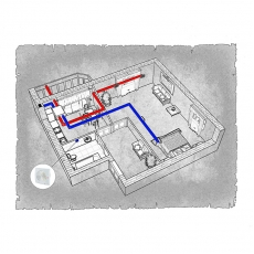 Централізована вентиляція  квартири ЖК Срібні озера м. Хмельницький ( однокімнатна )
