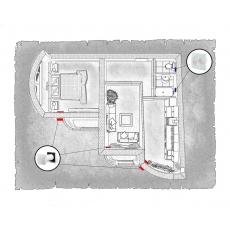Комплект децентралізованої вентиляції для двокімнатної квартири (Львів, вул. Дем'янська) тип1