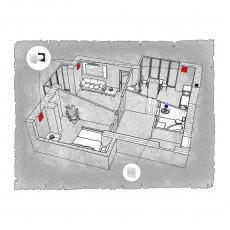Децентралізована вентиляція  квартири ЖК Гостинний дім м. Луцьк ( двокімнатна )