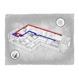 Комплект централізованої вентиляції для двокімнатної квартири  (Львів, вул. Рубчака)