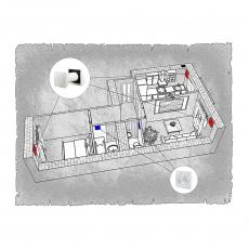 Децентралізована вентиляція  квартири  мікрорайону «Масани – 3» м. Чернігів ( двокімнатна )