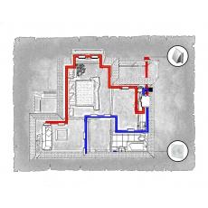 Комплект централізованої вентиляції для двокімнатної квартири   (м. Івано-Франківськ, вул. Стуса)