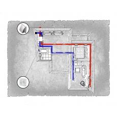 Комплект централізованої вентиляції для двокімнатної квартири   (м. Івано-Франківськ, вул. Стуса) тип 2