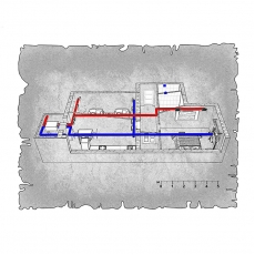 Централізована вентиляція  квартири  ЖК Атлант, м. Дніпропетровськ ( двокімнатна )